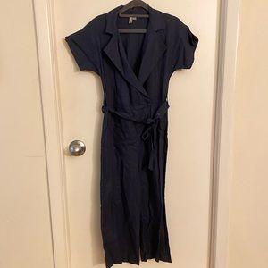 NWOT ASOS linen wrap front jumpsuit